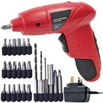 Electric screwdriver used for drilling with little ones